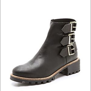 Miista Cecilia leather buckle Ankle boots booties